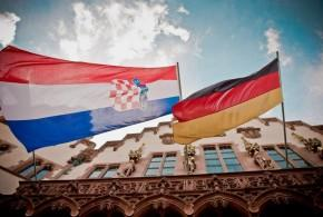Frankfurt Roemer hrvatska njemacka zastava