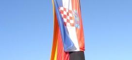 Hrvatska i Njemacka zastava zajedno