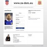 Pokrenuta web stranica podrške Josipu Šimuniću www.za-dom.eu