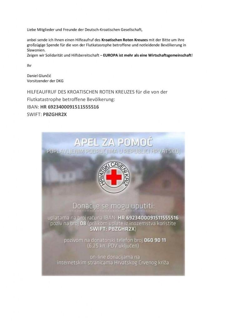 Hilfsaufruf des KRK-001