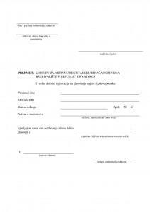 Zahtjev za aktivnu registraciju-11-001