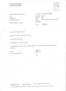 Tuziteljstvo Frankfurt_odbacena optuzba D Rogosica 19.05.2008.