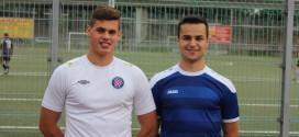 Oliver Andrić (lijevo) i Dominik Mihaljević (desno) ponovno zajedno u obrani Croatije Frankfurt / Foto:Fenix Magazin
