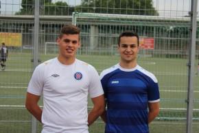 Glavni oslonci igre Croatije Frankfurt Oliver Andrić (lijevo) i Dominik Mihaljević (desno)  Foto:Fenix Magazin