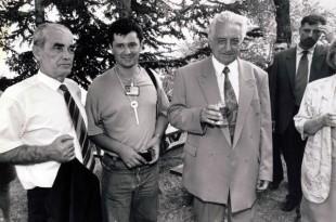 6. kolovoza '95. na kninskoj Tvrđavi: Gojko Šušak, Ante Gugo i  dr. Franjo Tuđman