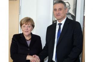 Kancelarka Angela Merkel i predsjednik HDZ-a Tomislav Karamarko u Berlinu