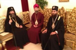Vladika Andrija Bonifacije (u sredini) sa episkopima Grčke Pravoslavne Crkve