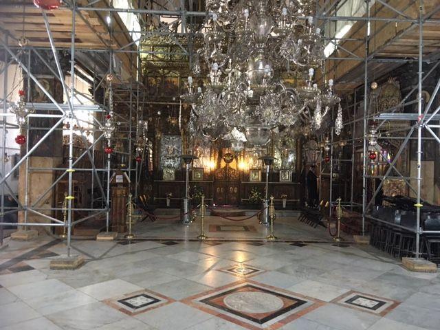 Unutrašnjost Bazilike Isusova Rođenja / Foto: Fenix (D.Puđa)