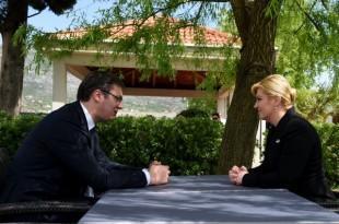 Aleksandar Vučić u nedavnom razgovoru sa predsjednicom Kolindom Grabar Kitarović Foto:Twitter