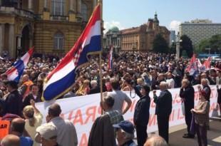 S prosvjeda za promjenu imena najljepšeg zagrebačkog trga /Foto:Hina
