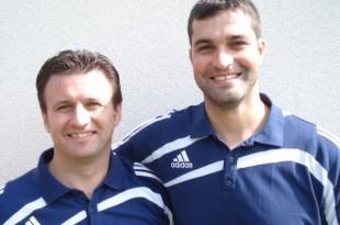 Treneri Zrinskog Ervin Bojović i Tomislav Vidačković / Foto: Bono Žepić
