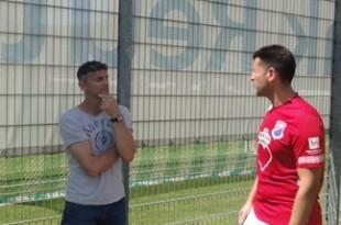 Trener Croatije Marko Mutapčić s igračem Ivom Kikićem