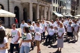 Mimohod u Rijeci za ubijene u Srebrenici Foto: Radio Rjeka