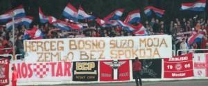 Arhivska snimka podrške navijača Zrinjskog  Herceg-Bosni u Mostaru / Foto: večernji.ba