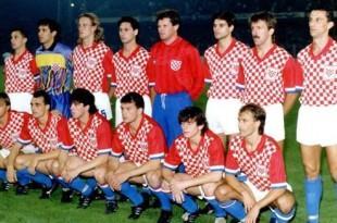 Sastav Hrvatske protiv SAD prije 25 godina