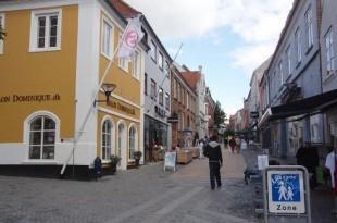 Slika ulice iz danskog grada Aabenraa