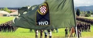Povijesno postrojavanje  postrojbi HVO-a / Foto: Preslik Arhiv HVO