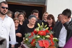 SKABRNJA 22.03.2017. Groblje sv. Luka sprovod Eva Segaric