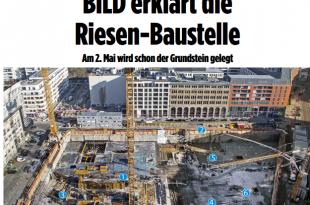 Naslovna fotografija reportaže s gradilišta u Berlinu Foto:Screenschot Bild Zeitung