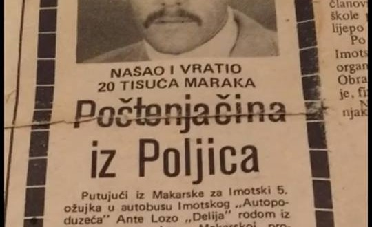 Starim isječkom iz novina u predizbornu kampanju