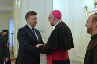 Plenkovic i biskup iz Gradišća  Egidije Živković