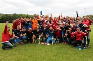 Slavlje igrača pobjedničke momčadi Croatije iz Mülheima am Ruhr Foto:Fenix Magazin