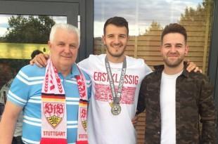 Ante Grgic s ocem i bratom