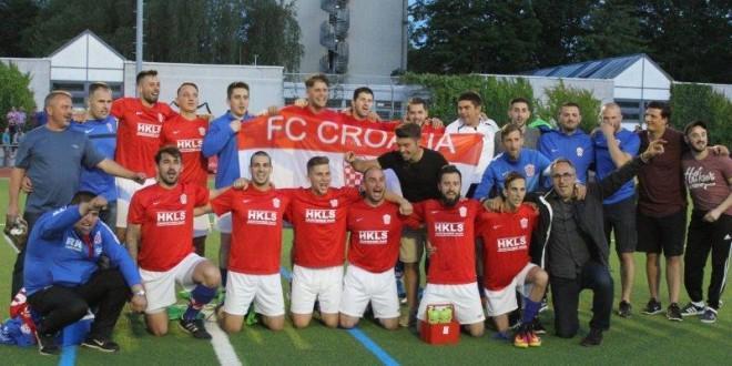 Slavlje igrača, trenera i uprave Croatije nakon pobjede protiv Germanije