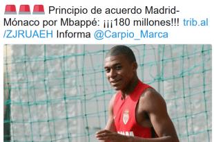 Marca na twitteru o prelasku Kyliana Mbappea u Real Madrid