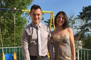 Danijel Romić sa suprugom