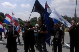 Prosvjedi pravaških stranaka zbog skupa u Srbu Foto:HSP