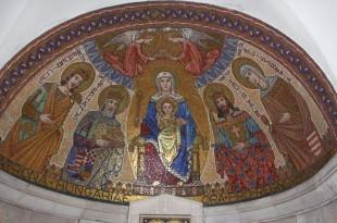 Detalj unutrašnjosti crkve Gospina usnuća gdje je i hrvatski grb / Foto:Fenix Magazin