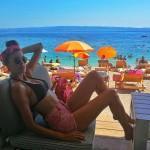 Manekenka Angelika Lagator uživa na Žnjanu