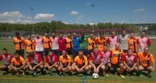 Zajednička fotografija momčadi Croatije i Tetova pred početak kup utakmice / Foto:Fenix Magazin - Ivan Barišić