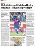 Opširnu najavu  utakmice Pajda donosi i subotnje tiskano inozemno izdanje Večernjeg lista