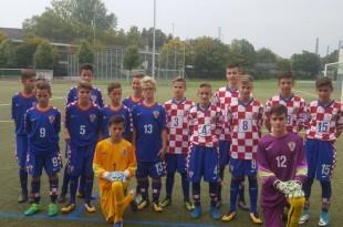 Mladi hrvatski U-14 reprezentativci izabrane vrste Hrvatskog svjetskog kongresa Njemačke u Frankfurtu / Foto:Ante Udbinac/Fenix Magazin