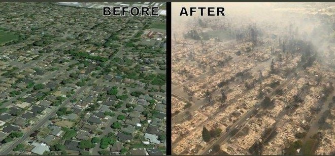 1. Prije i Poslije požara u Kaliforniji (3)