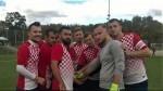 Igrači Croatije Zürich pred očetak utakmice protiv Tetove /Foto: Fenix Magazin-Ivan Barišić