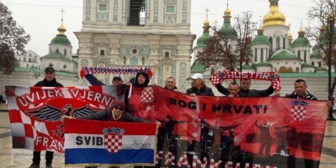Hrvatski navijači iz Frankfurta u Kijevu /Foto: R.Kobaš