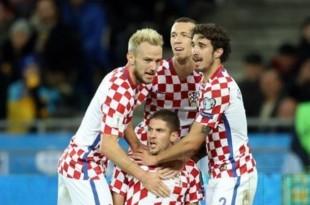 Radost hrvatskih igrača naon gola Andreja Kramarića / Foto:Hina