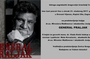 POZIVNICA - promocija knjige General Praljak