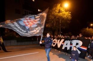 Pripadnici Torcida u mimohodu za Vukovar / Foto:Hina