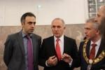 Predsjednik Vijeća stranaca grada Frankfura (KAV) Jumas Medoff, Stipe Puđa i gradonačelnik Frankfurta Peter Feldmann