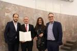 Vodstvo Livanjske zajednice Frankfurt i Croatije Frankfurt sa nagrađenim Stipom Puđom/ Foto: Fenix Magazin