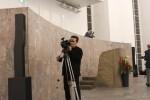 HTV-ov snimatelj Petar Malbaša tijekom snimanja u Frankfurter Paulskirche / Foto: Fenix Magazin