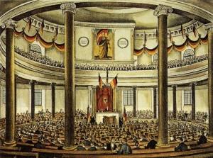 Prvo zasjedanje demokratski izabranog njemačkog parlamenta u Paulskirche 1848. godine _Wikipedia