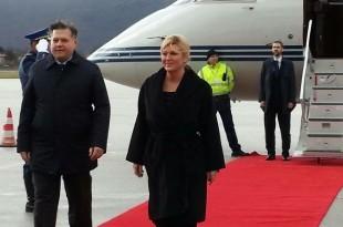 Hrvatsk predsjednica doputovala u Sarajevo / Foto: N1