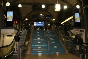 I u večernji satima na Glavnom kolodvoru u Mainzu nije bilo puno ljudi
