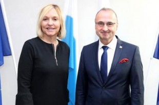 Državna ministrica za europske poslove i regionalne odnose Beate Merk i hrvatski veleposlanik u Njemačkoj dr. Gordan Grlić Radman