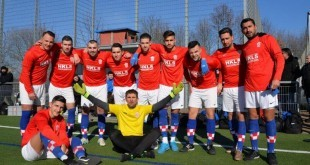 Momčad Croatije Frankfurt pred utakmicu protiv Tempa / Foto:Fenix Magazin